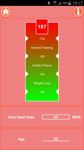 Fit Mark - Fitness Calculator Golden Heart Rate