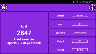 Mobile Fit Mark-Fitness Calculator Daily Calorie Needs
